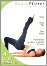 4 DVD SET BEACH PILATES exercise WORKOUT Core Abs Buns Thighs FREE SHIPPING