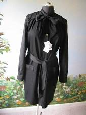 Love Moschino Black Long Sleeve Dress Pearl Buttons Size 12 NWT $500