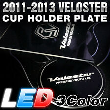Surface Emission LED Lettering Cup Holder Plate For HYUINDAI 2011-2016 Veloster