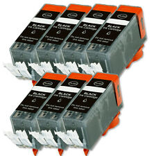 7 PK BLACK Ink Cartridge plus Chip fits Canon 225BK PGI-225PGBK MG5320 MG6120