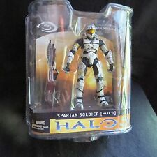 Halo 3-Series 1-Spartan Soldier Mk VI (White)-5 Inch Action Figure