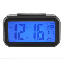 New digital LED alarm clock snooze light control backlit time (without battery)