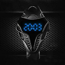 LED Digital Mens Watches Silicone Cobra Iron Triangle Dial Sport Wristwatch # AF