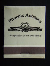 PHOENIX ANTIQUES 458 HIGH ST PRAHRAN 519607 MATCHBOOK