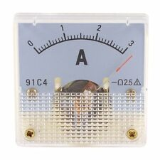 DC 0-3A Rectangle Analog Panel Ammeter Gauge Amperemeter Class 2.5