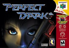 Nintendo 64 N64 Perfect Dark Video Game Cartridge *Cosmetic Wear*