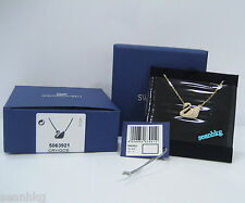 Swarovski Swan Necklace Gold-Plated Clear Crystal Authentic MIB - 5063921