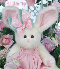 """Bearington Bear FLUFFY & FLUTTER 14"""" Girl Bunny Rabbit #420216 NEW SPRING 2014"""
