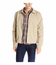 QUIKSILVER MENS BILLY HARRINGTON SHERPA FULL ZIP TAN JACKET KHAKI M MEDIUM MD