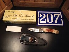 Frost Cutlery LITTLE COON Skinner II JAPAN Full Tang Knife & Sheath STAG Handle