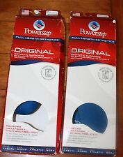 Powerstep Full Length Orthotic Support Lot of 2 Size Women's 7-7.5  Men's 5-5.5