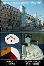 MUSEUM SOUVENIR FRIDGE MAGNET - REINA SOFIA MADRID & MIRO & PICASSO