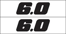 MG 2348  fits 6.0 Liter GM Chevy Chevrolet Decal Sticker Metro Auto Graphics