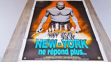 NEW-YORK NE REPOND PLUS the ultimate warrior  ! yul brynner affiche cinema 1979