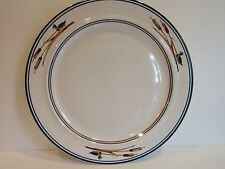 """EPOCH Pollo 12"""" Round Platter~Chop Plate~Ducks~Cat Tails~ Blue & Brown Rings"""