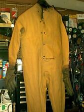 VINTAGE USN DRYSUIT SIZE SMALL WITH ATTACHED RUBBER GLOVES & BOOTS DRY SUIT