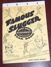 Famous Slugger yearbook 1945  Lou Boudreau / Dixie Walker cover # 2