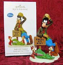 HALLMARK 2012 DISNEY REVEAL ORNAMENT~HALF-OFF HIJINKS~GOOFY and CHIP n DALE