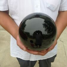 13LB Natural Black Obsidian Sphere Large Crystal Ball Healing Stones