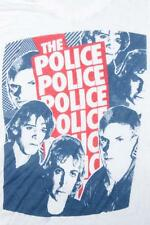 Vintage The Police White Band Concert Tour V Neck Soft Paper Thin T Shirt M