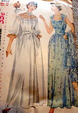 LOVELY VTG 1950s NIGHTGOWN & NEGLIGEE Sewing Pattern 14/32