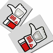 MARCO SIMONCELLI 58 MOTO GP `LIKE` stickers motorcycle decals graphics x 2