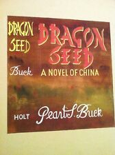 Original Vintage Cover Art Painting Dragon Seed Pearl Buck Dust Jacket