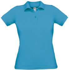 Damen Polo Shirt B&C Collection Safran Pure, Farbe Atoll