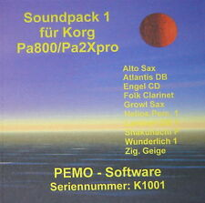 Pemo software audio Pack 1 per Korg pa800 o pa2xpro