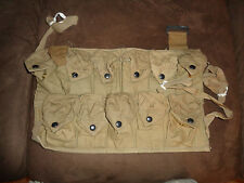WW1 Field Gear Eleven  Pocket Grenade Bandoleer Invasion Vest USMC 1918  NOS