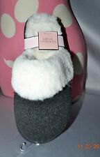 Victorias Secret Super Soft Faux Fur Knit Slippers Cozy Warm NWT M 7 - 8