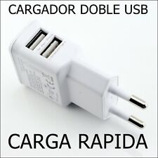 CARGADOR 2 USB CARGA RAPIDA PARA HUAWEY P8 P9 LITE XIAOMI REDMI 3 PRO-MOTO G3 G4