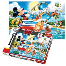 Trefl 24 Piece Maxi Unisex Mickey Mouse Fishing Large Pieces Jigsaw Puzzle NEW