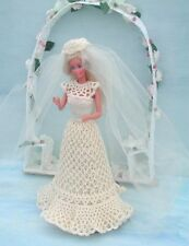 CROCHET FASHION DOLL PATTERN-ICS DESIGNS-281 BRIDAL BOUDOIR MAGAZINE