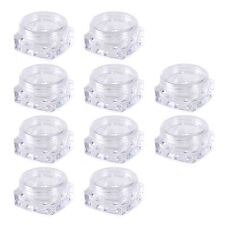 10pcs 3ml Cosmetic Empty Jar Pots Eyeshadow Face Cream Lip Balm Sample Container