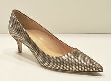 J Crew Dulci Mermaid Glitter Kitten Heels - size 9 - Sand Black Pumps