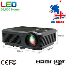 UK CAIWEI Video Projector LED LCD HD Home Cinema DVD PS4 Xbox Use HDMI USB VGA