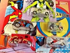 Hot Wheels 2017 Pop Culture MARVEL WOMEN CASE J SET OF 5  vw dodge D-livery