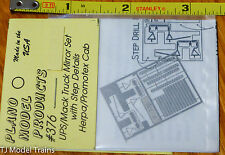 Plano #376  Mirrors for UPS Truck Tractors -- Fits Herpa/Promotex Cabs