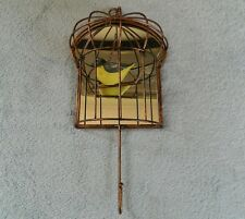 GRASSLANDS ROAD DECORATIVE BIRDCAGE / MIRROR, WALL HANGING W/ HOOK - COPPER