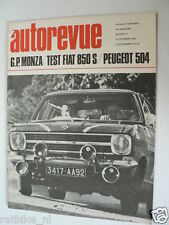 AUTOREVUE 1968-19,GP ITALY F1,PEUGEOT 504,COUPE DES ALPES,FIAT 850,HULME,FORD,