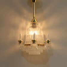 1:12 Dollhouse Miniature Standard Reading Lamp 12 Volt Working Light Landscape ♫