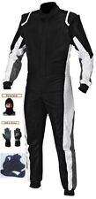 Level 2 Approved CIK/FIA kart race suit kit black/white