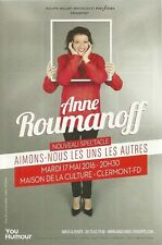 FLYER PLV - ANNE ROUMANOFF SPECTACLE LIVE 2016 A CLERMONT FERRAND - AUVERGNE