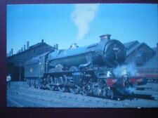 POSTCARD KING CLASS LOCO NO 6000 'KING GEORGE V' AT SWINDON SHED 1967