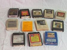 Used lot of 11 Country and Religious genre vintage 8 track tapes w/cleaner