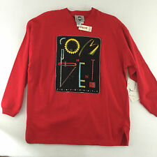 Chaus Sport Embellishments Womens S Red Top Long Sleeve Red Beaded/Appliqued
