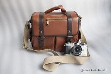 Vintage Leather camera bag Messenger bag for DSLR EVIL camera and lens 03-047