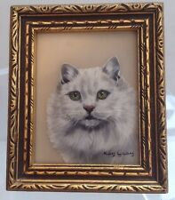 Vintage Miniature Framed Painting By Kay Gray - Persian