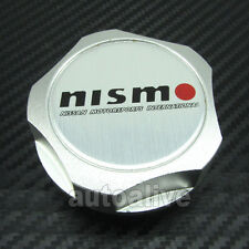 Silver Nismo Billet Engine Oil Filler Cap Fuel Tank Cover for Nissan Motorsports